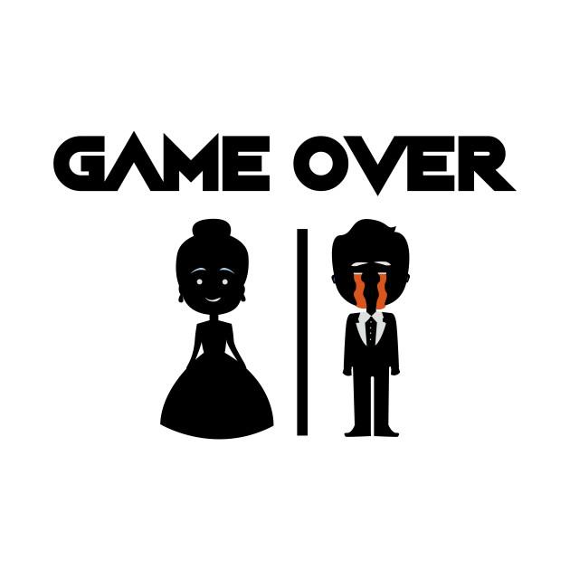 cf84d8bf Game Over Groomsmen - Groom Funny - Groom Funny - T-Shirt | TeePublic
