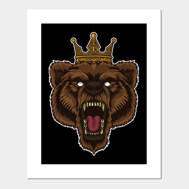 Roaring Bear With Crown | Wilderness Forest Tough