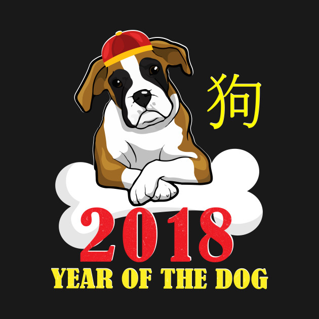 Boxer Dogs For Happy Chinese New Year Gift Boxer Dogs For Happy