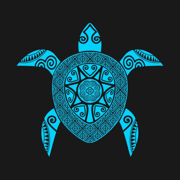 Hmoob Tribal Turtle (Blue)