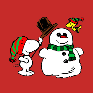 snoopy woodstock christmas t shirt