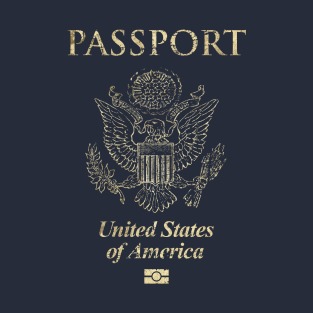 United States of America Passport Vintage t-shirts