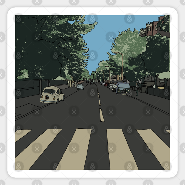 Abbey Road Without The Beatles Abbey Road Sticker Teepublic