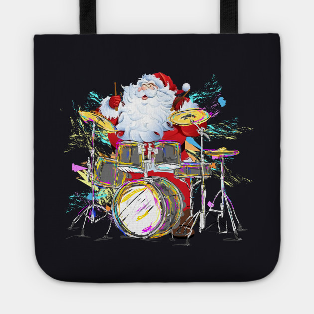 Christmas Santa Claus Playing Drums