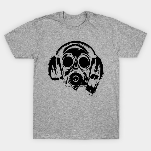 headphone gasmask funny funnyteeshirts t shirt teepublic