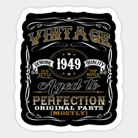70th Birthday Gifts For Men Stickers