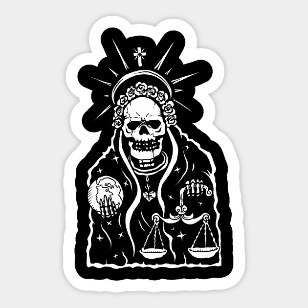 Santa Muerte Religion Sticker Teepublic