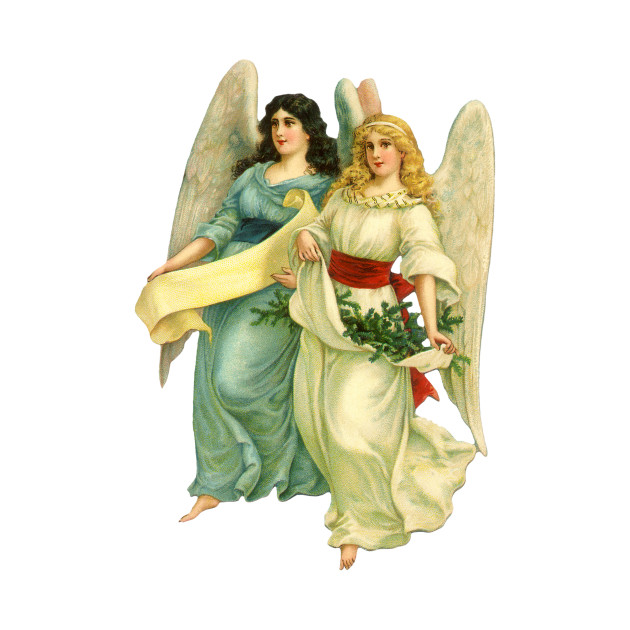 Christmas Angels.Victorian Christmas Angels