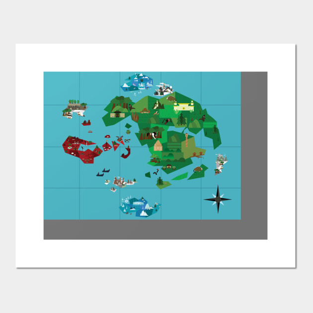 Other Anime Collectibles World Map Poster Avatar the Last Airbender ...