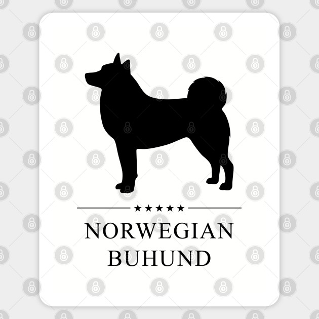 Norwegian Buhund Black Silhouette Norwegian Buhund Sticker Teepublic