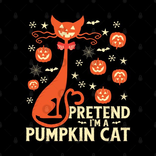 Pretend I'm A Pumpkin Cat Halloween Costume gift