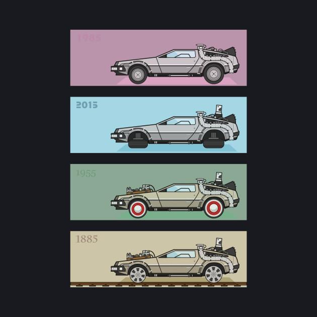 Back to the Future - Delorean x 4