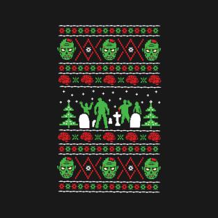 Zombie Ugly Xmas Sweater t-shirts