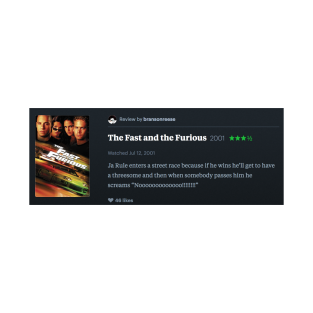 e9935d67e My letterboxd review of The Fast and the Furious (2001) that somebody told  me was actually a review 2 Fast 2 Furious (2003) but it turns out I was  right and ...