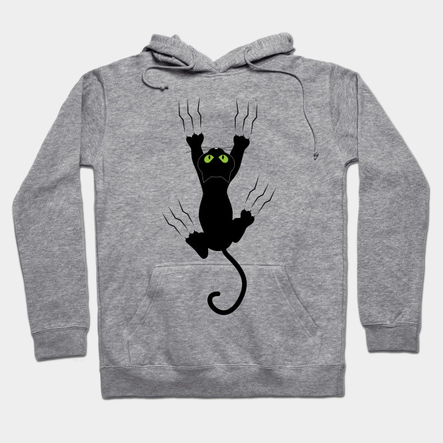fccbddc5 Funny Black Angry Cat T-Shirt I Love Cats Cute Graphic Tee Hoodie