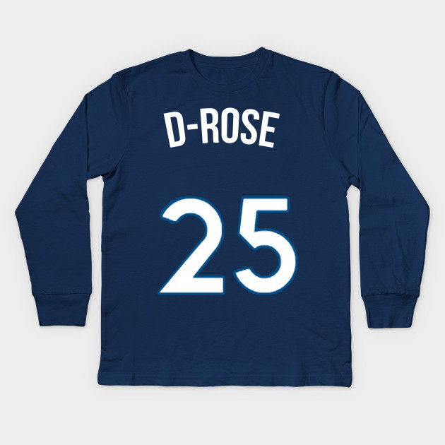 e2618e82b37 Derrick Rose  D Rose  Nickname Jersey - Minnesota Timberwolves Kids Long  Sleeve T-Shirt