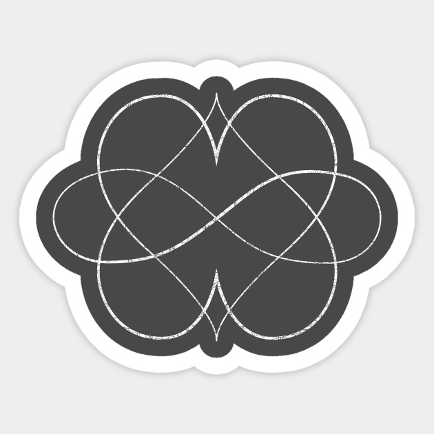 Poly Double Heart Symbol Thin Etched Polyamory Sticker Teepublic