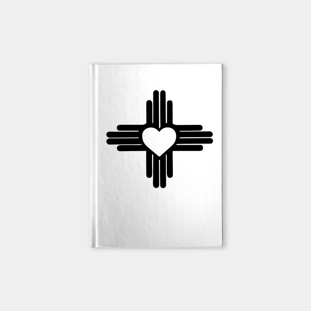 Zia With Heart Symbol New Mexico State Flag Zia Notebook