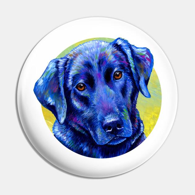 Loyal Companion -  Colorful Black Labrador Retriever Dog