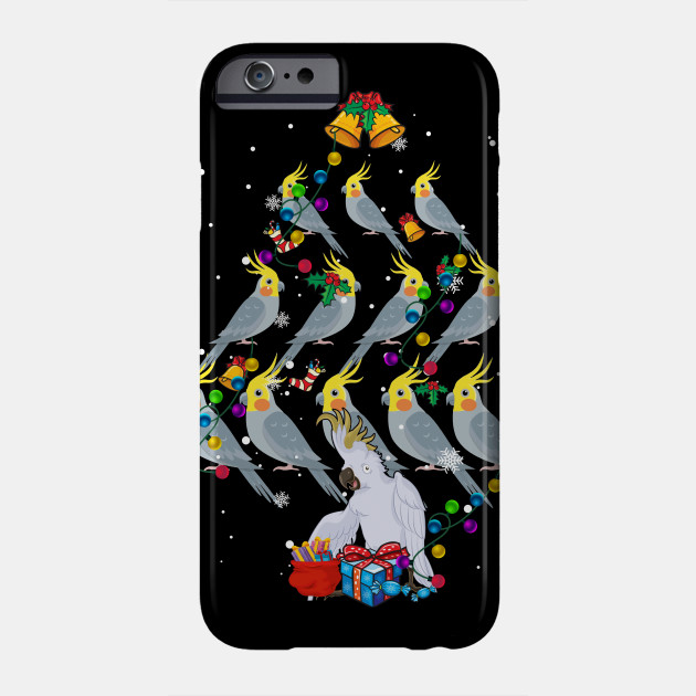 Cockatiel Christmas Tree Funny Cockatiel Bird Christmas Gift Phone Case