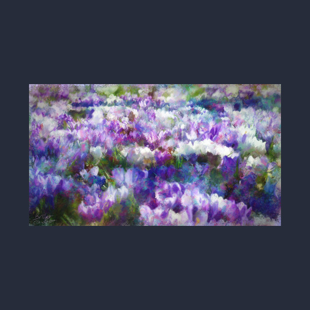 Crocuses After Winter Impressionist Painting