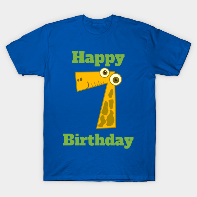 Happy 7th Birthday Seventh For Boys Or Girls T Shirt