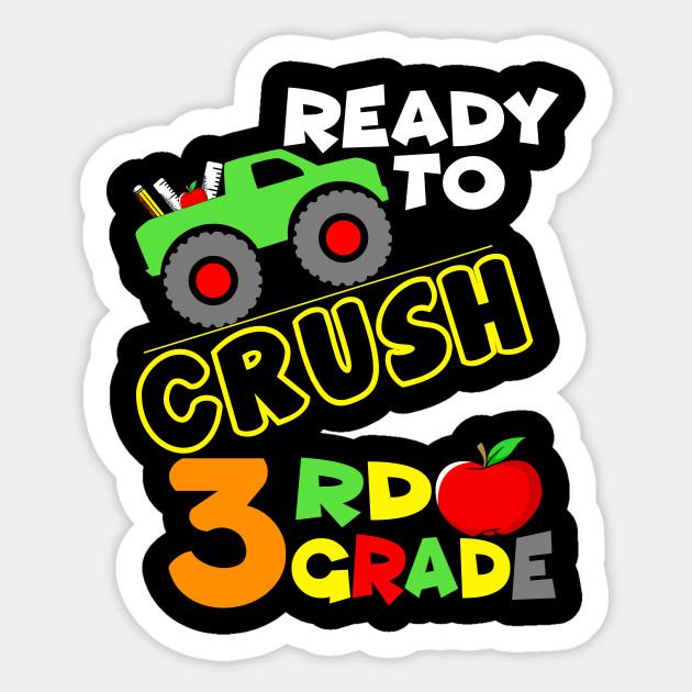 3rd Grade Monster Truck Back To School Boys Gift Back To School