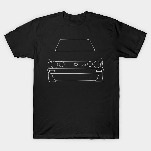 f1a2247a3 VW Golf GTI Mk 1 outline graphic (white) - Golf - T-Shirt   TeePublic