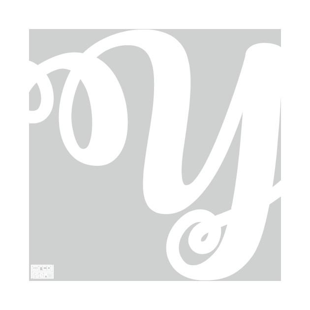 Letter Y Elegant Cursive Calligraphy Initial Monogram