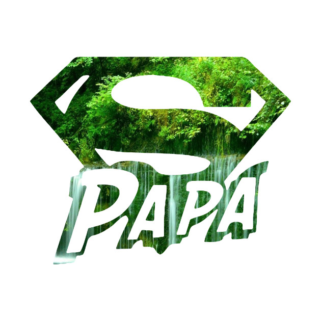 super papa, forest and water fall style