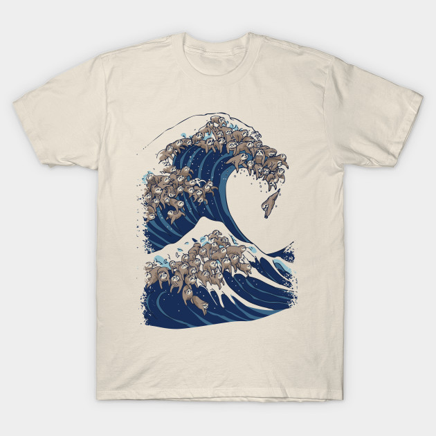2619c39be The Great Wave of Sloths - Sloth - T-Shirt   TeePublic