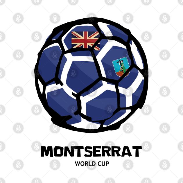 Montserrat Football Country Flag