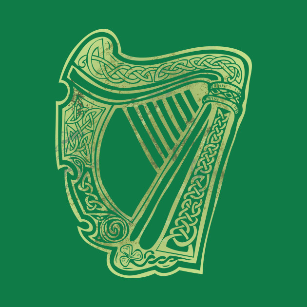 Celtic Harp - Irish - T-Shirt