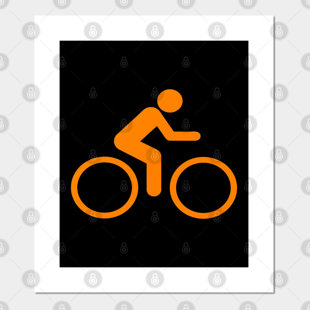 Orange Graphic Cycling Bicycle design