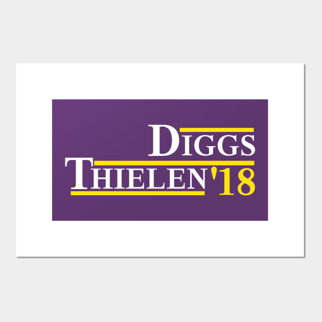 Diggs Thielen 2018 White Letters