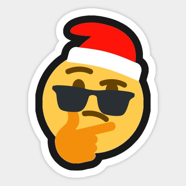 Funny Sunglasses Christmas Emoji