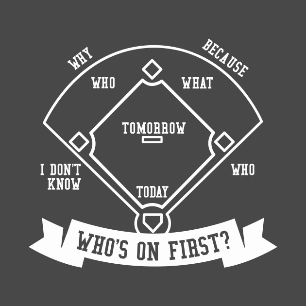 Funny Baseball Quotes | Who S On First Funny Baseball Quotes Mug Teepublic