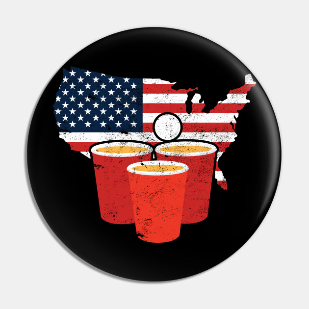 4th Of July Beer Pong American Flag College Party
