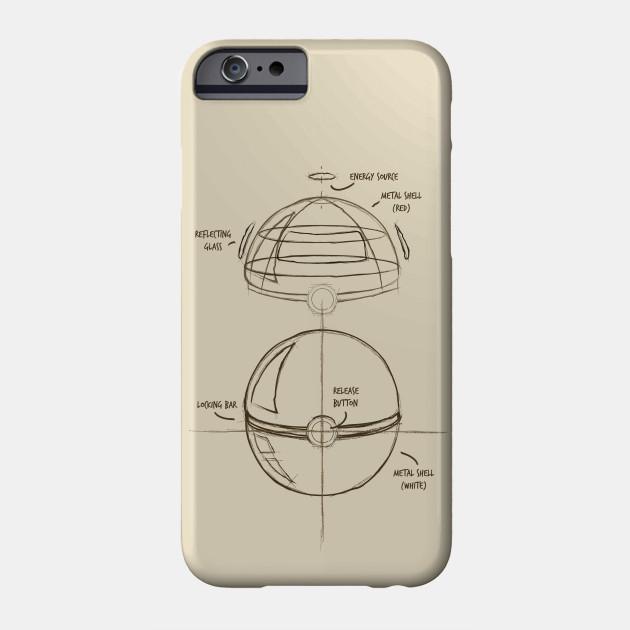 Pokéball Anatomy - Pokball - Phone Case   TeePublic