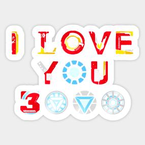 I Love You 3000 Stickers Teepublic