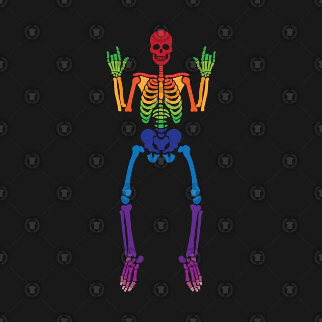Spooky Rainbow Skeleton