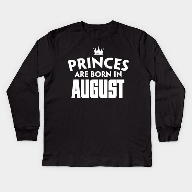 August T Shirts Birthday For Girl Women Kids Long Sleeve Shirt