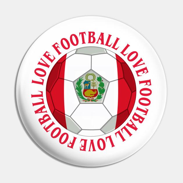 PERU- Peruvian Flag Football Soccer Icon