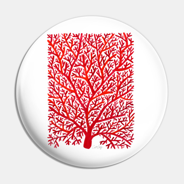 fan coral red
