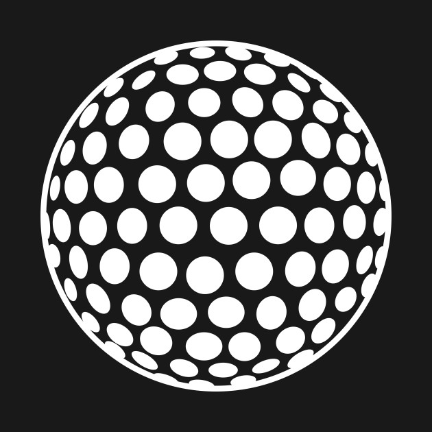minimal white golf ball