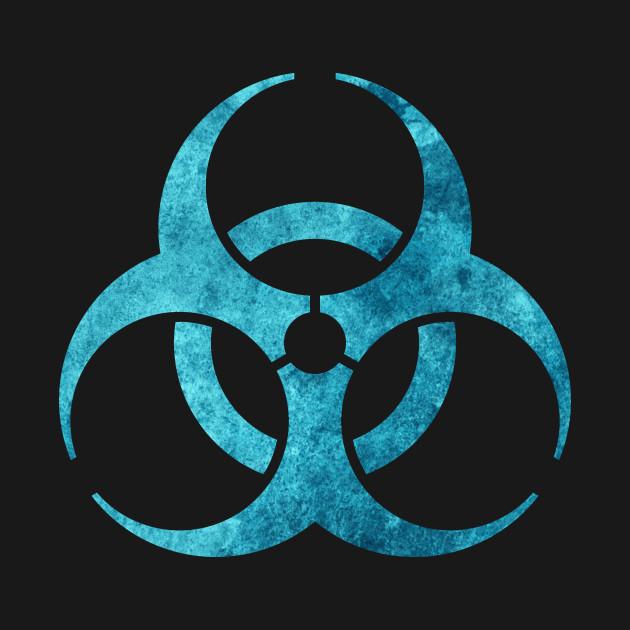 Blue Biohazard Symbol Biohazard T Shirt Teepublic