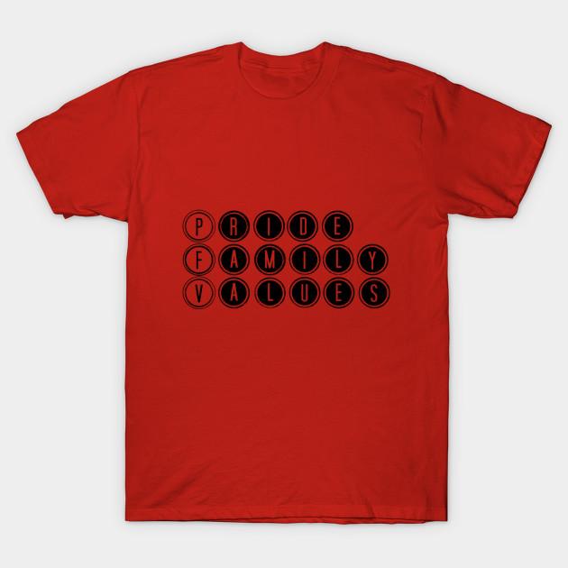 5d94dd8ed Pride Family Values Logo Tee - Family - T-Shirt   TeePublic