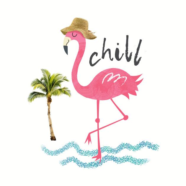 Chillin' flamingo