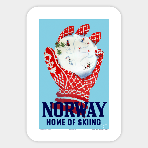 Norway Home Of Skiing Wall Decal