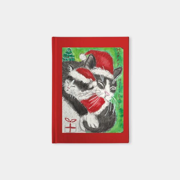 Christmas  Holiday cat kitten art